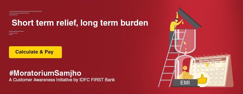 Moratoriumsamjho Idfc First Bank